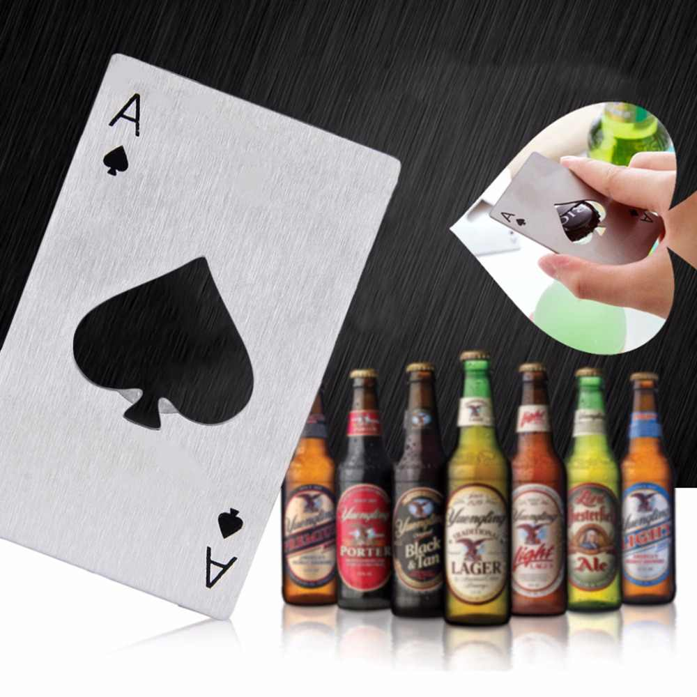 1pc New Stylish Hot Sale Poker Playing Card Ace of Spades Bar Tool Soda Beer Bottle Cap Opener Gift New Arrival