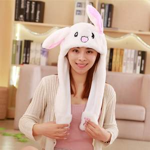 Cartoon Hats Playtoy Bunny Adult Moving-Hat Rabbit-Gift Children Cute for Kids Fashion