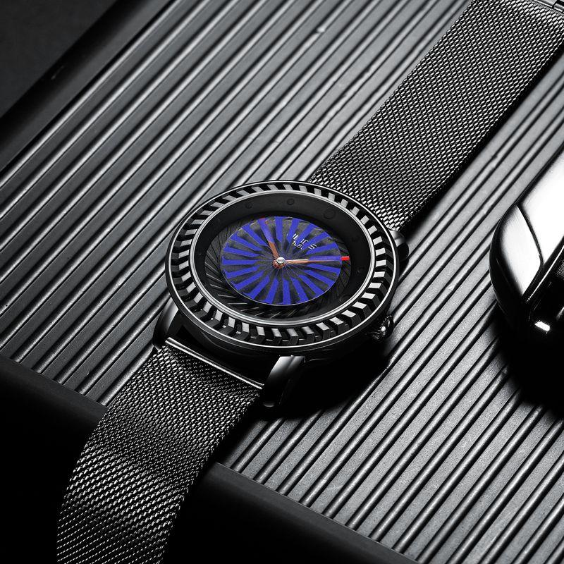 NIBOSI montre de mode hommes Unique cadran mouvement étanche maille bracelet montres pour hommes Quartz sport montre Relogio Masculino - 4