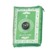 Portátil à prova dportable água muçulmano tapete de oração com bússola padrão do vintage islâmico eid decoração presente bolso tamanho saco zíper estilo