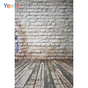 White Brick Wall Wooden Floor Wood Plank Baby Shower Portrait Backdrop Vinyl Photography Background For Photo Studio Photophone