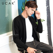 UCAK Brand Sweater Men Autumn Winter Thick Warm Cardigan Men Clothes 2019 New Arrival Casual Coat Men Soft Cotton Knitwear U1013