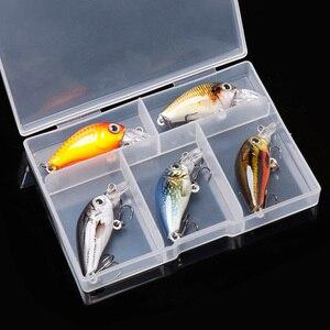 Image 4 - TREHOOK 36mm 3.6g 5 pièces Mini appâts de pêche à la manivelle appâts artificiels Topwater appâts durs méné nageurs Wobblers pêche à la carpe ensemble de leurres