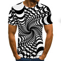 Летняя модная разноцветная Мужская футболка с коротким рукавом с 3D принтом, летняя повседневная футболка с круглым вырезом, забавная уличн...