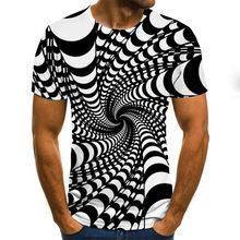 Verão moda colorida 3d impressão de manga curta camiseta masculina verão casual em torno do pescoço camiseta diversão rotativa padrão rua coágulo