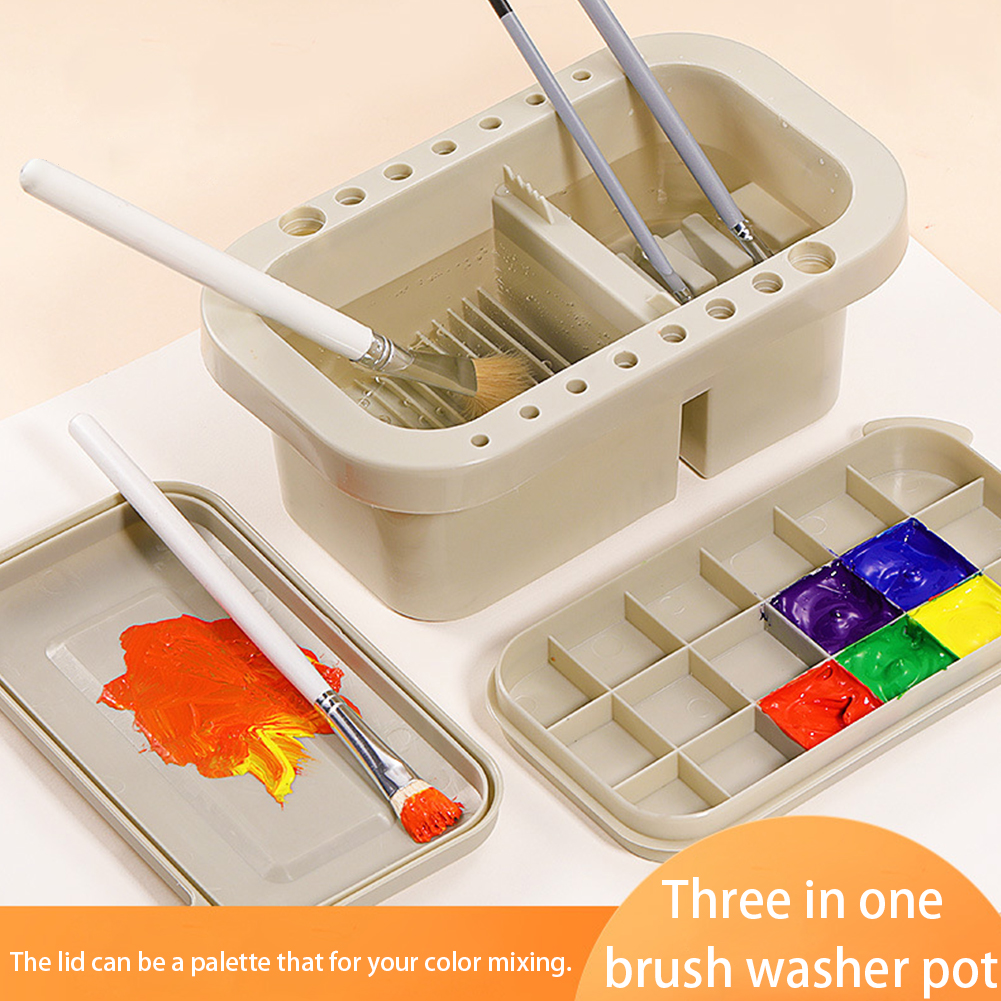 Top Sale~Stationery-Tool Washer Palette Drying-Holder Paint-Brush Art-Supplies with Student Multifunctional