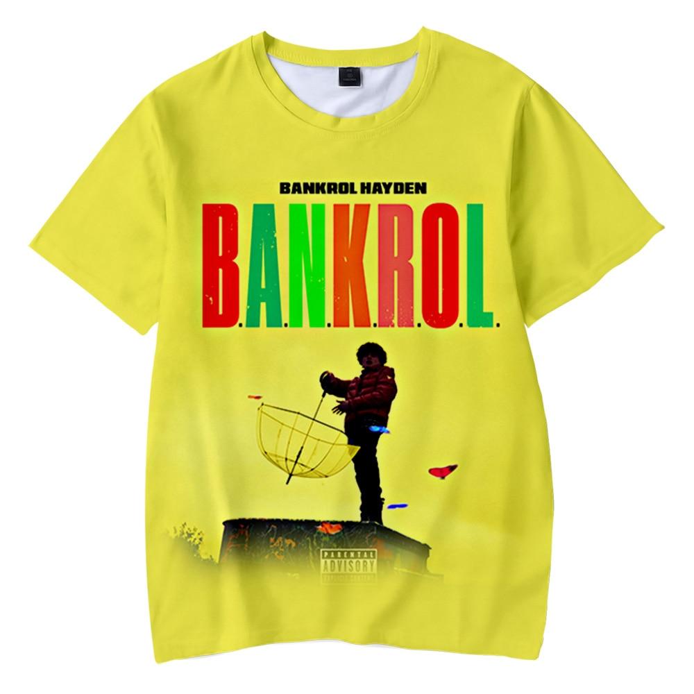 New Cool BankrolHayden 3D Printed T-shirts Men/Women Summer T shirt High quality Casual Short sleeve T-shirt Clothes