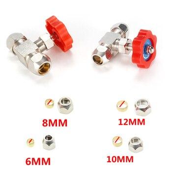 Válvula de tubo de presión duradera, 6mm, 8mm, 10mm, 12mm, diámetro del orificio, naranja