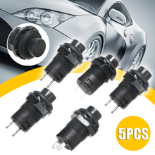 New Arrival 5pcs 12V Car Dash Off-On Momentary Push Button Switch Horn Doorbell Black 3A 125V AC 1.5A 250V