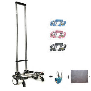 Trolley Suitcase Schoolbags Luggage Car-Bearing-Capacity Folding Stainless-Steel Full