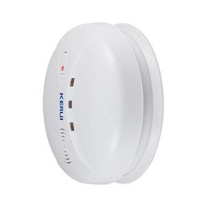 Image 5 - Kerui Linkable אלחוטי עשן גלאי רגיש הפוטואלקטרי אש חיישן עבור אבטחה האלחוטית בית מערכת