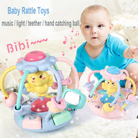ベビーラトル手引く活動ボールおもちゃ幼児の早期教育のおもちゃ多機能ミュージカル点滅ハンド子供のプレゼント