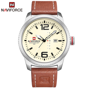 Image 5 - 2020 NEW Luxury Brand NAVIFORCE Men Sport Watches Mens Quartz Clock Man Army Military Leather Wrist Watch  Relogio Masculino