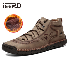 Plus Size Winter Men Shoes Casual Split Leather Sho