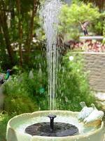 태양 전원 분수 펌프 패널 급수 키트 정원 식물 급수 전원 분수 풀 연못 잠수정 급수 폭포