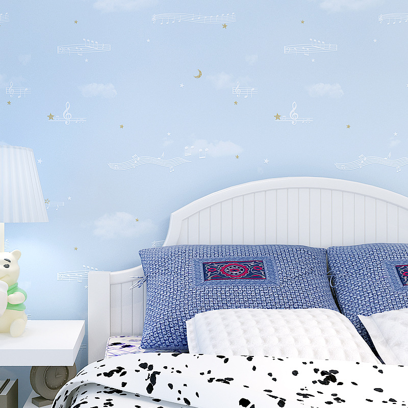 Warm Cartoon Cute Children Bedroom Non-woven Wallpaper Baby Room CHILDREN'S Clothing Store Wallpaper