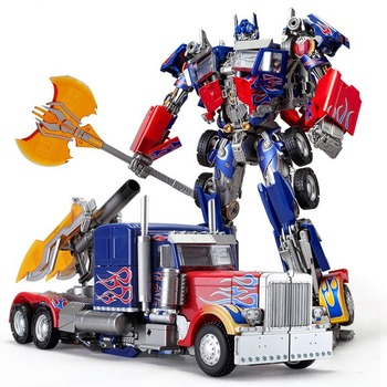 Deformation Robot Transformers Alloy Autobot LS-03 Metal Autobot Car Optimus Prime KM01 MPM04 Transformation Model Toy 1