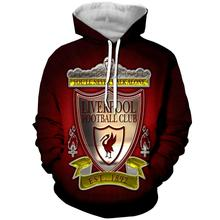 LBG Liverpool Fashion Football Hoodie 3D Print Casual Uniforms Sportswear Fans Clothing Street Pullovers