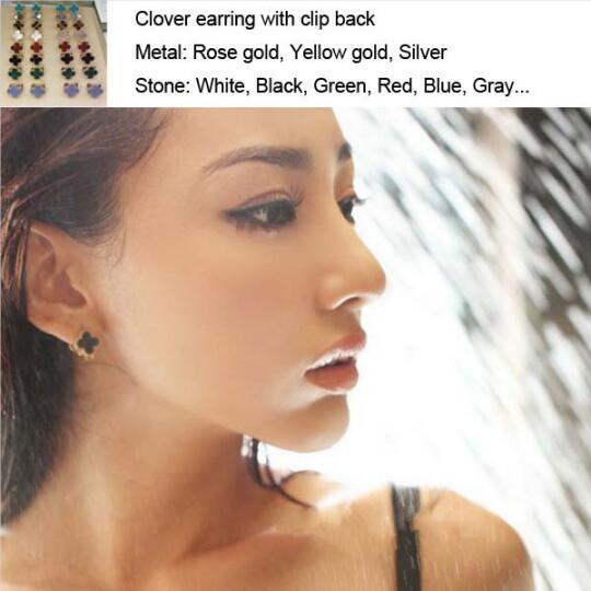 Élégant boucle d'oreille de marque chaude avec pince femmes en argent Sterling 925 ensemble multicolore pierre naturelle Bijoux originaux cadeaux 15mm