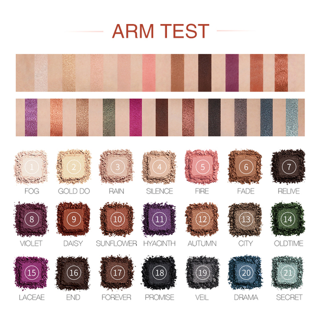 O.TWO.O Darling Eyeshadow Palletes 21 Colors Ultra Fine Powder Pigmented Shadows Glitter Shimmer Makeup Eye Shadow Palette 2