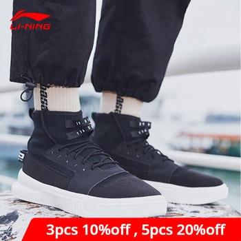 Li-Ning Men CALLOUT Bad Five Basketball Culture Shoes High-Cut Mono Yarn LiNing li ning Lifestyle Sport Shoes AGBN019 YXB243