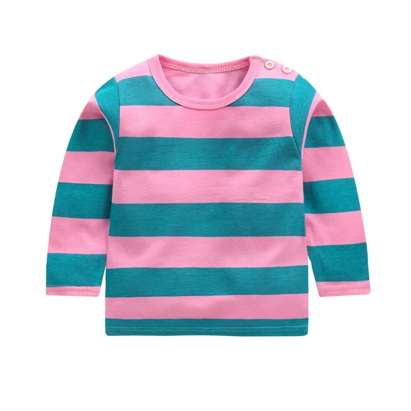 New Spring Boys Girls Cartoon Cotton T Shirts Children Tees Boy Girl Long Sleeve T Shirts Kids Tops Brand Baby Clothes 12M-8Y