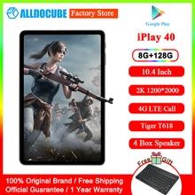 ALLDOCUBE iPlay40 10.4 inch Tablet PC 2K FHD 2000*1200 8GB RAM 128GB ROM Android 10 T618 CPU Dual 4G LTE Call 5G WiFi iPlay 40