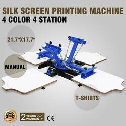 4 kolor 4 stacji obsługi maszyna sitodrukarska praktyczne T Shirt drukarki naciskając wielki wygodny do transportu|Części do suszarek do ubrań|AGD -