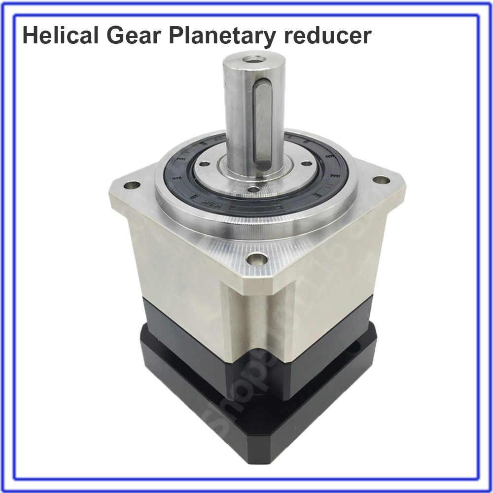 5:1 Helical Planetary Gearbox Rasio 5 Reducer 3 Arcmin Reaksi 19 Mm untuk NEMA34 90 Mm 750W 1KW AC servo Motor Robot Top Presisi