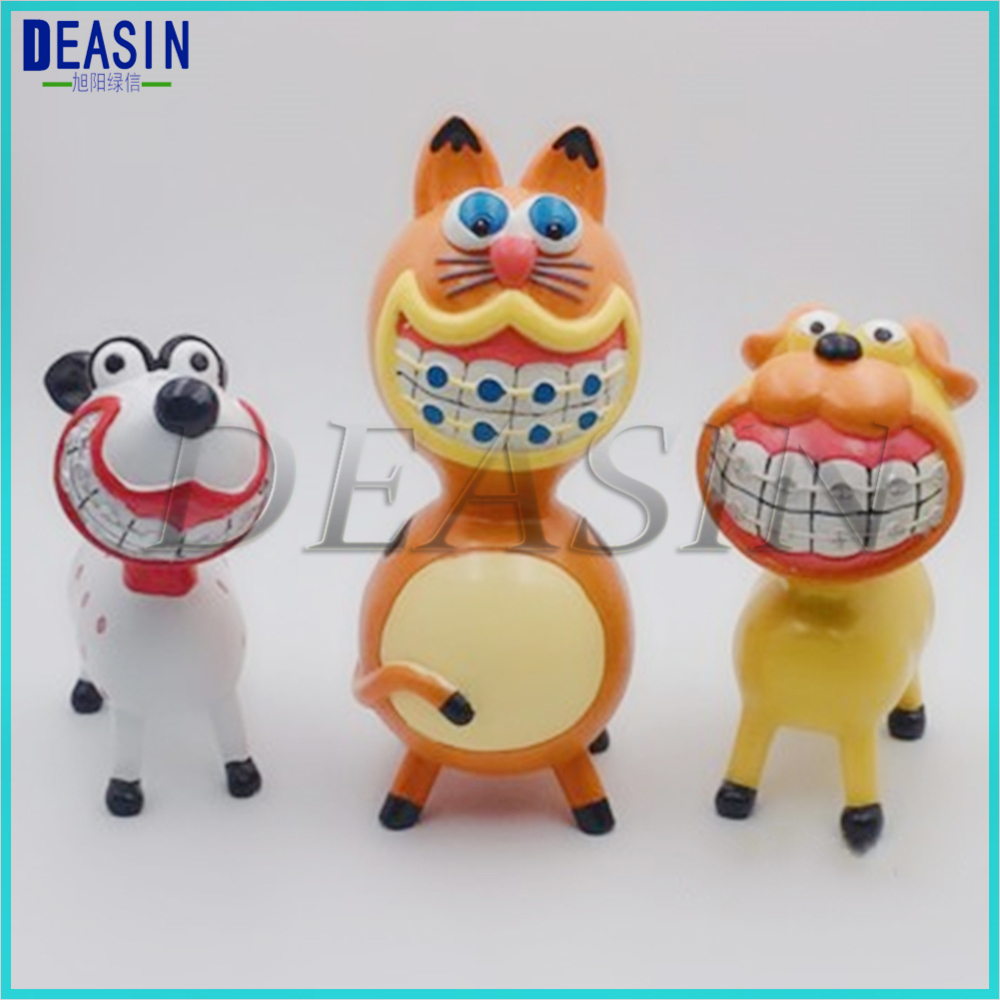 1PCS Dentist Gift  Crafts Toys Animal Orthodontics Dental Artware Teeth Handicraft Articles Creative Sculpture
