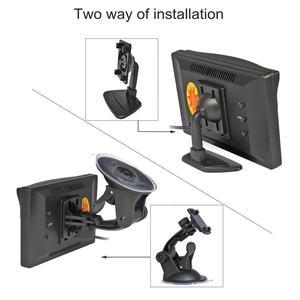 """Image 5 - DIYKIT 800x480 5 """"TFT LCD 디스플레이 HD 자동차 모니터 MPV SUV 말 트럭에 대 한 흡입 컵 및 무료 브래킷과 후면보기 모니터"""