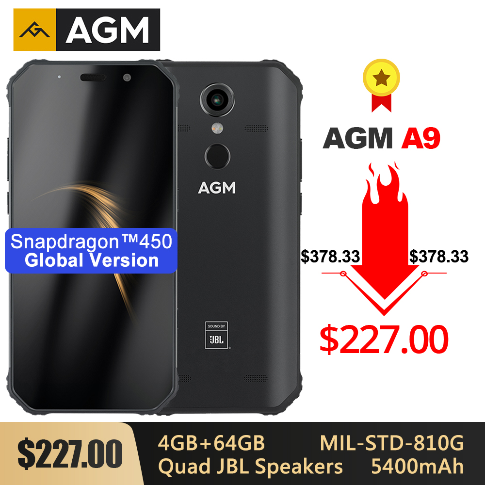 AGM A9 resistente IP68 Smartphone resistente al agua SDM450 5,99