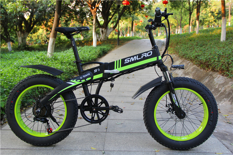 S9F 20inch folding fat electric bike 48v 350w Fat Tire Folding E-Bike For adults 2