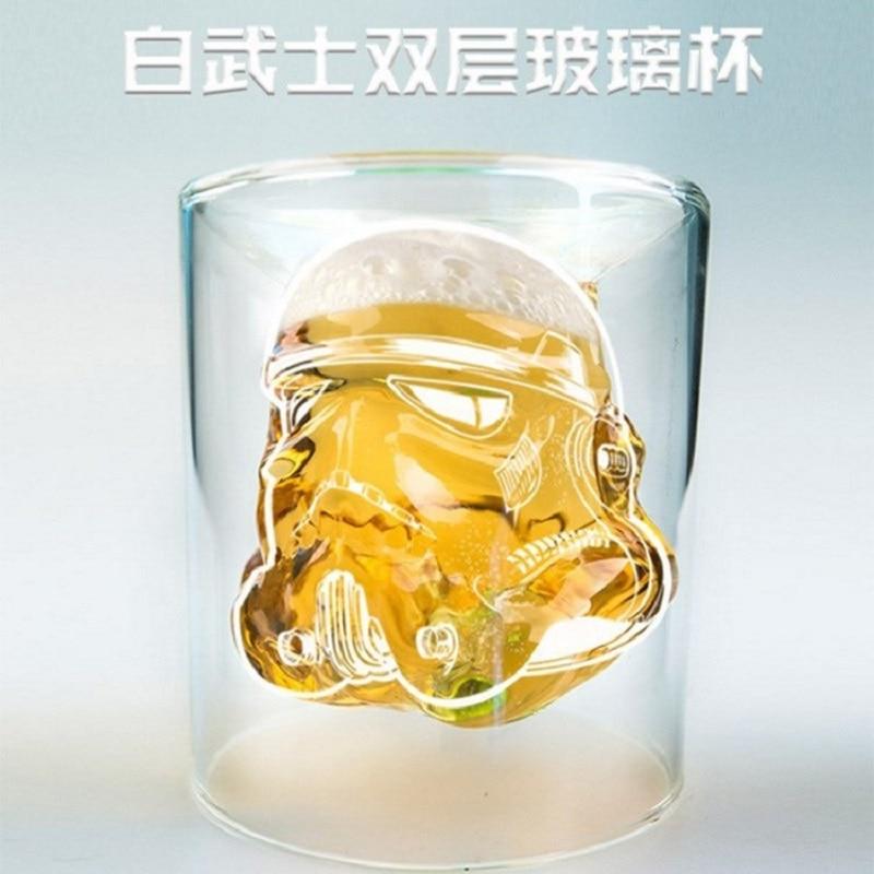 Ручная работа Звездные войны Дарт Вейдер белый рыцарь Железный человек 3D кружка стеклянной чашки для воды Пара Кружка креативный подарок кружка