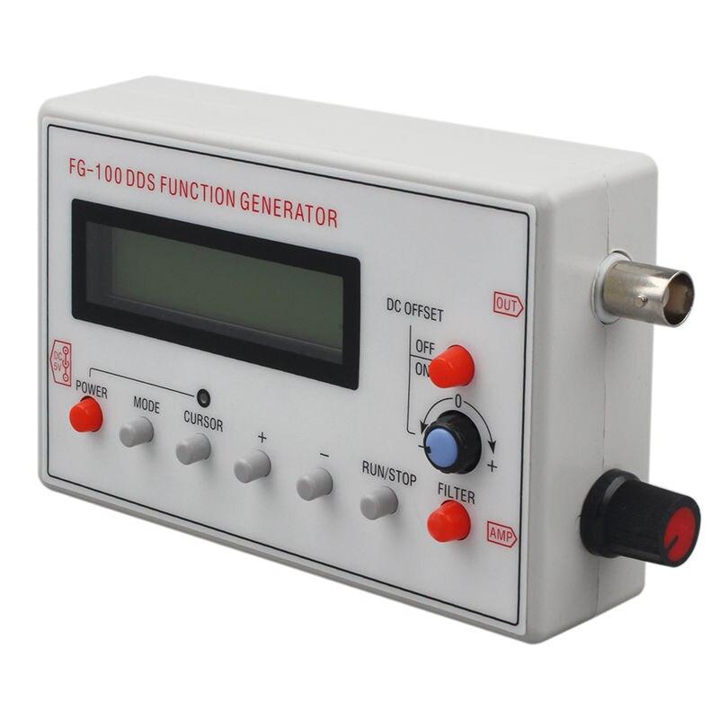 Новый FG-100 DDS функция генератор сигналов счетчик частоты 1 Гц-500 кГц