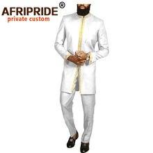 Мужской костюм в африканском стиле Дашики пиджак и брюки из