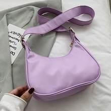 Mode exquis sacs à provisions Vintage sac à bandoulière femmes en forme de croissant Simple en cuir sacs à bandoulière