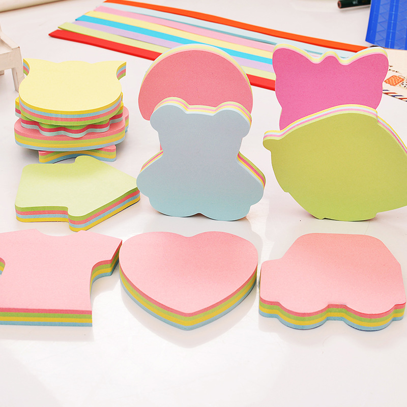 Sticky Notes Heart Note Paper Note Removable Self-stick Notes Message Sticker Notes Memo