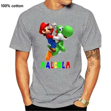 MARIO YOSHI PERSONALISED KIDS WHITE T SHIRT Men Women Unisex Fashion tshirt
