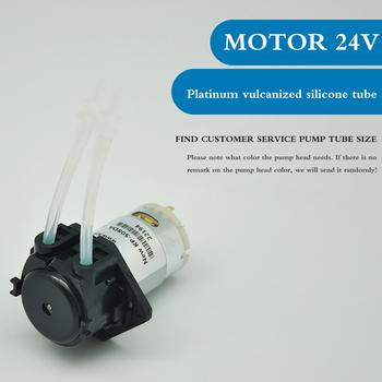 DC mała pompa dozująca 3V 6V 12V 24V mikro samozasysająca wyciszenie Mini perystaltyczna pompa cieczy DC pompa wody do laboratorium dozowanie analityczne tanie i dobre opinie Other WODA Peristaltic Pump