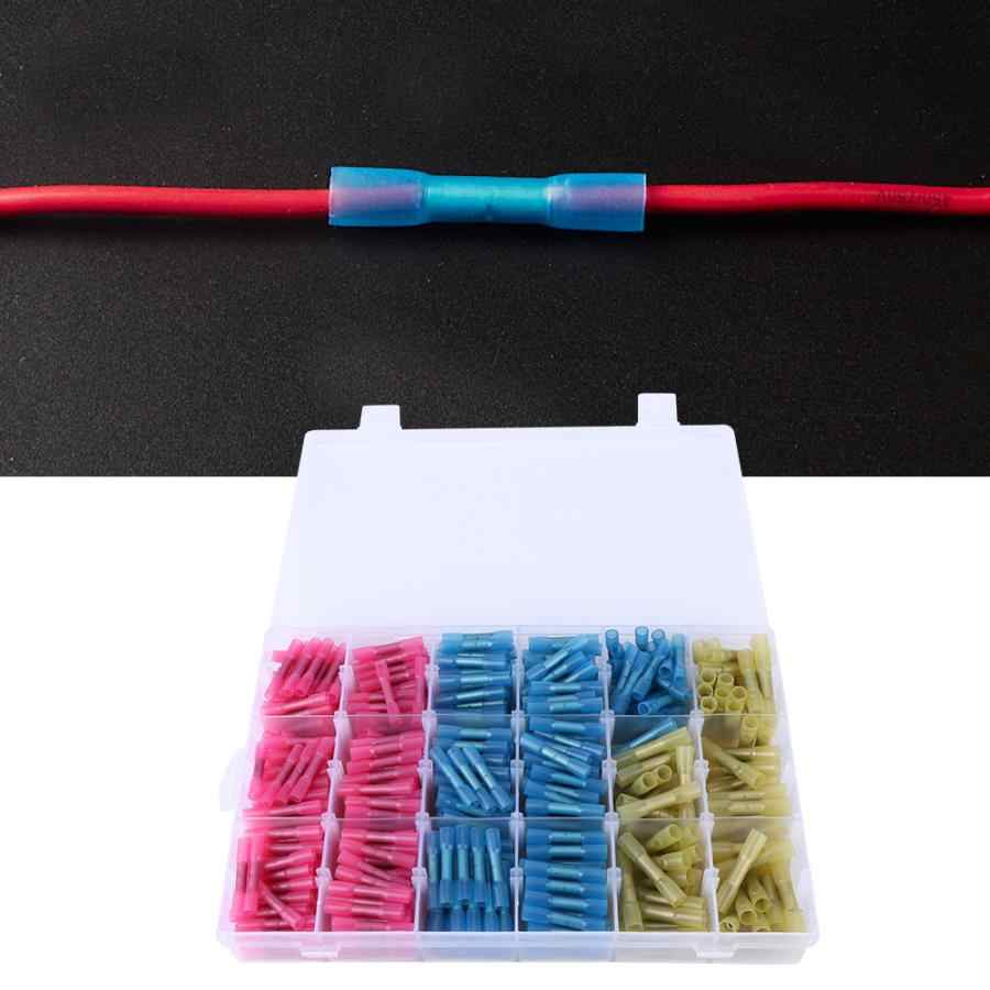 Heat Shrink Crimp Terminals 630PCS Waterproof Heat Shrink Butt Connectors Insulated Electrical Wire Terminals Kit