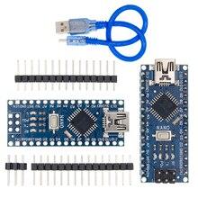 10 комплектов = 10 шт. Nano 3,0 + 10 шт. usb кабель ATmega328, плата Mini USB CH340G для Arduino