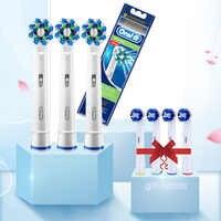 3 pièces + 4 têtes cadeaux tête de brosse têtes de brosse à dents remplaçables OralB EB50
