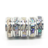 MIXMAX 20pcs Silver Shell Ring men women unisex Titanium Stainless Steel bands Jewelry wholesale lots bulk dropshipping