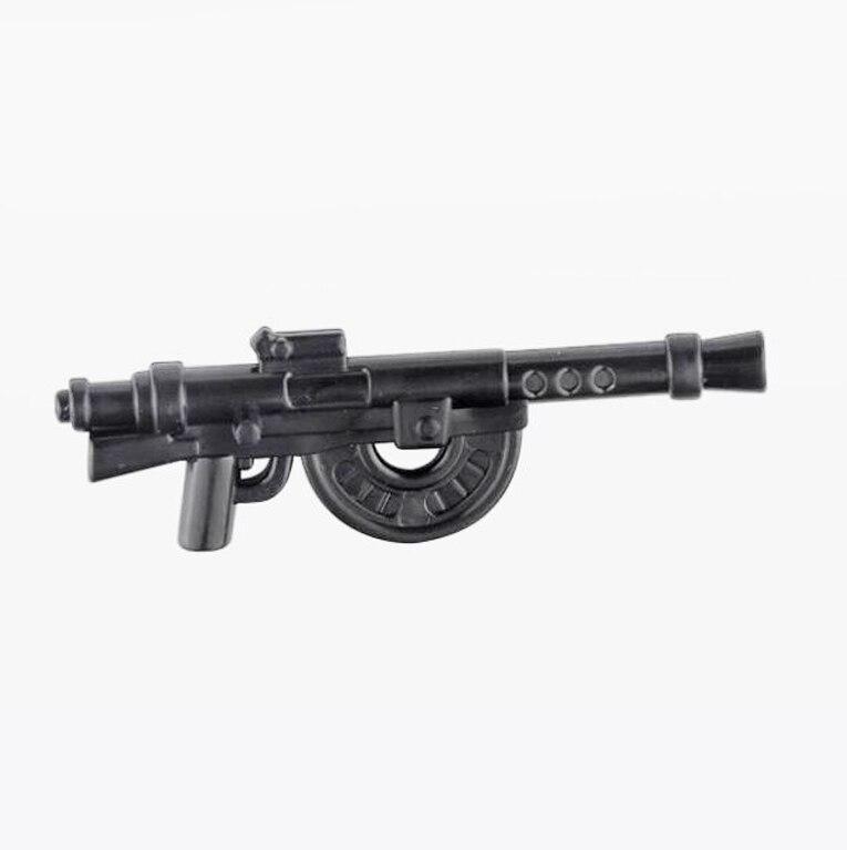 5 Pcs/Lot Military Weapons Guns Rifle Heave M1915 Machine Gun Submachine MOC Part Building Blocks Bricks Toys For Children X373