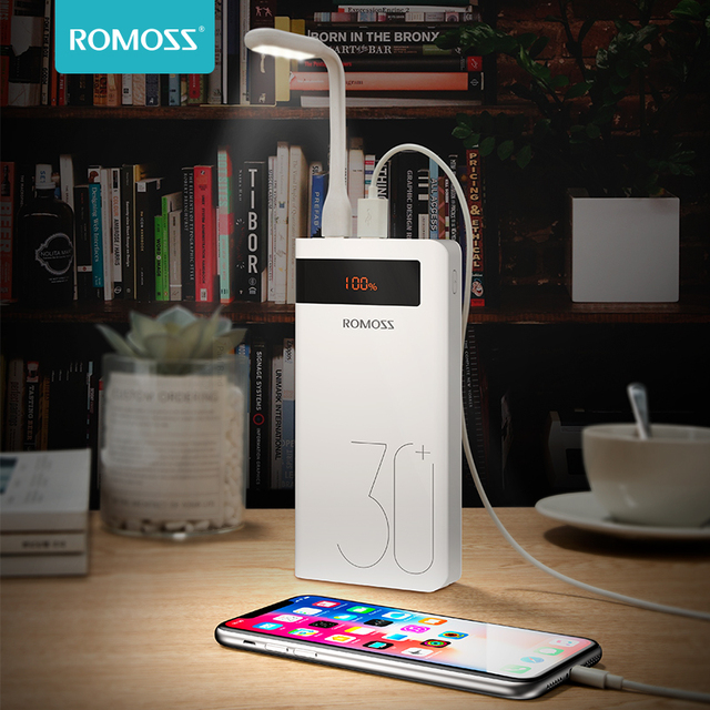 ROMOSS 30000mAh Power Bank PD Quick Charge Powerbank PD 3.0 Fast Charging Portable Exterbal Battery Chargerfor iPhone for Xiaomi 4