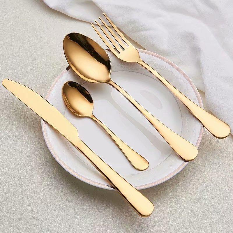 Набор столовых приборов из нержавеющей стали 304, набор столовых приборов из черного золота, набор ножей, набор вилок столовые приборы из серебра Столовые сервизы      АлиЭкспресс