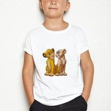 2020 children cute Simba cartoon printed cotton T-shirt girl boy funny animal baby clothes children summer comfortable t-shirt