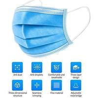 200PCS blue disposable mask with box anti dust soft breathable mouth masks 200 pcs for adults mask