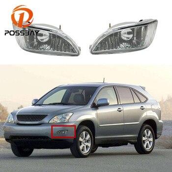 POSSBAY Car Front Bumper Fog Light Lamp Luces Cover for Lexus RX300 RX330 RX350 2003-2008 Lower Fog Light Turn Signal Light